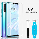 Bakeey UV Liquid Full Glue Cover Clear Curved Anti-Explosion Soft Hartowane szkło ochronne na ekran do Huawei P30 PRO