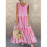 Polka Dot Patchwork Summer Dress