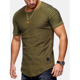 Herren Baumwolle Slim Breathable Kurzarm Casual T-Shirts