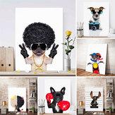 Bonito Cachorro Arte Adesivo de Parede Impressão Cartaz Pintura Moderna Decoração Sala de estar Decoração