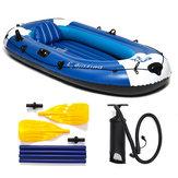 225x127cm 3 Personen Schlauchboot mit 210kg PVC Gummifischen mit Paddel Pumpe
