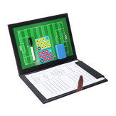 (Eleven Person Type) Magnetic Leather Football Board Soccer Trainer Tactics NoteBook Folder
