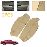 Leather Front Door Panels Armrest Cover For Honda Accord 2008-2012 2PCS