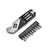 Stainless Steel Adjustable Wrench Folding Allen Wrench Multi-Function Wrench With Screwdriver