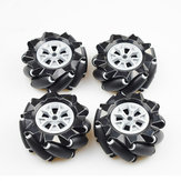 4PCS 80MM Omni Wheels For DIY RC Robot Smart Robot Car