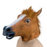 Przerażające Głowa konia maska lateksowa gumowa maska na Halloween Festival
