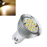 GU10 6.4W 16 SMD 5630 LED Bombilla Blanca de Ahorro de Energía Blanca Caliente 85-265V