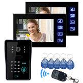 Lcd vidéo de téléphone de porte de ennio avec IR clavier de l'appareil photo et le code