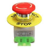 Emergency Stop Push Button Switch NO NC Self Locking Red Mushroom Cap 660V 10A