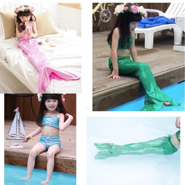 Mädchen Little Mermaid Schwanz Bikini Set schwimmbare Schwimmen Prinzessin Kostüm Badeanzug