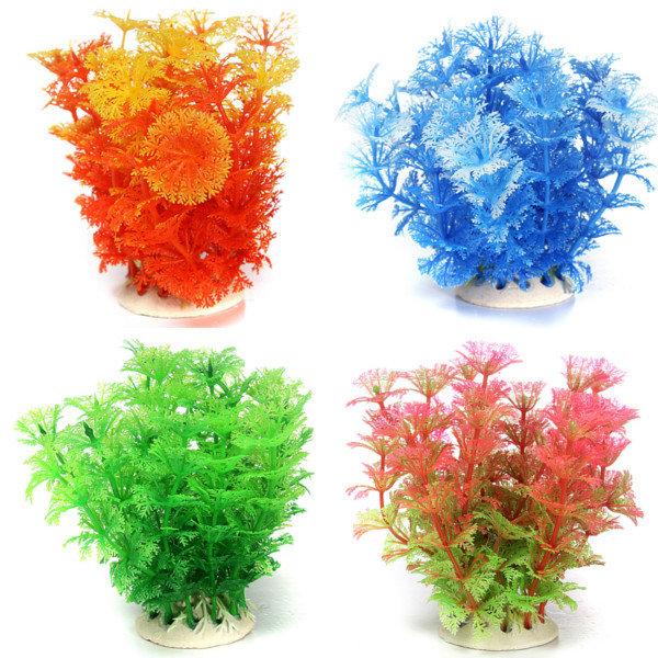 Multicolore acquario plastica artificiale pianta acquatica erba decorazione