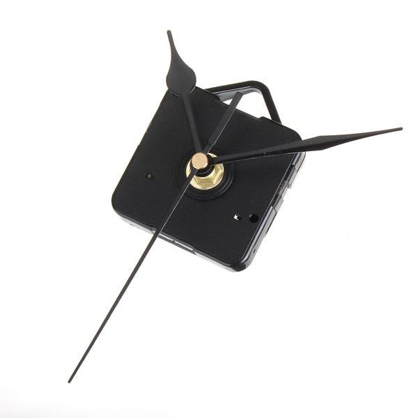 Schwarze Zeiger DIY Quarzuhr Silent Movement Kit