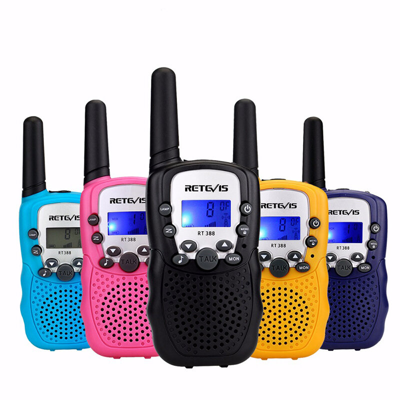 2 stks Retevis RT388 22 Kanalen GMRS 462-467MHz Mini Handheld Twee Weg Kids Radio Walkie Talkie
