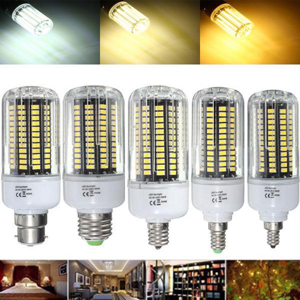 E27 E17 E14 E12 B22 18W 100 SMD 5736 LED Zuiver Wit Warm Wit Natuur Wit Corn Bulb AC85-265V