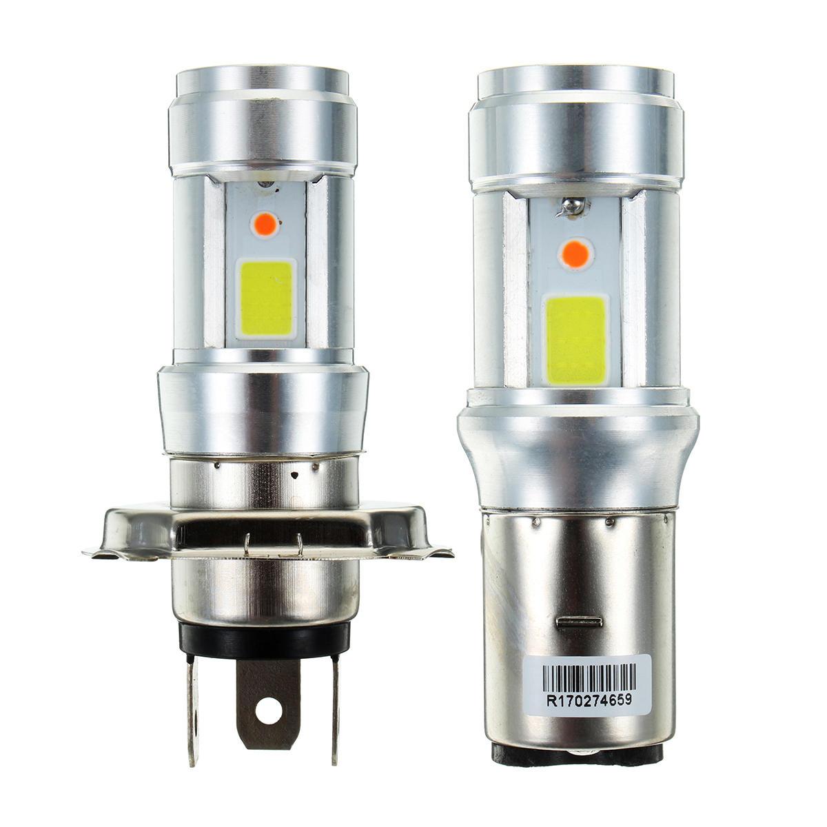 H4 BA20D 3000LM 18W Bright Hi/Lo COB LED Motorcycle Headlamp Motorbike Fog Lamp Light DC9-18V