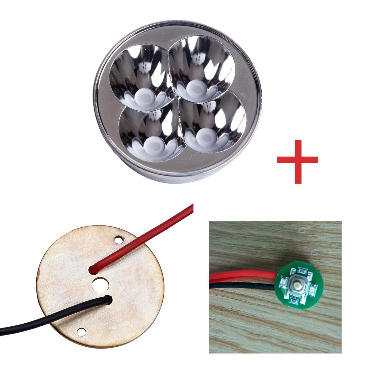 BLF Q8 Conjunto de Acessórios para Lanternas Com Conjunto de Interruptores Iluminados + Cobre DTP MCPCB + Refletor