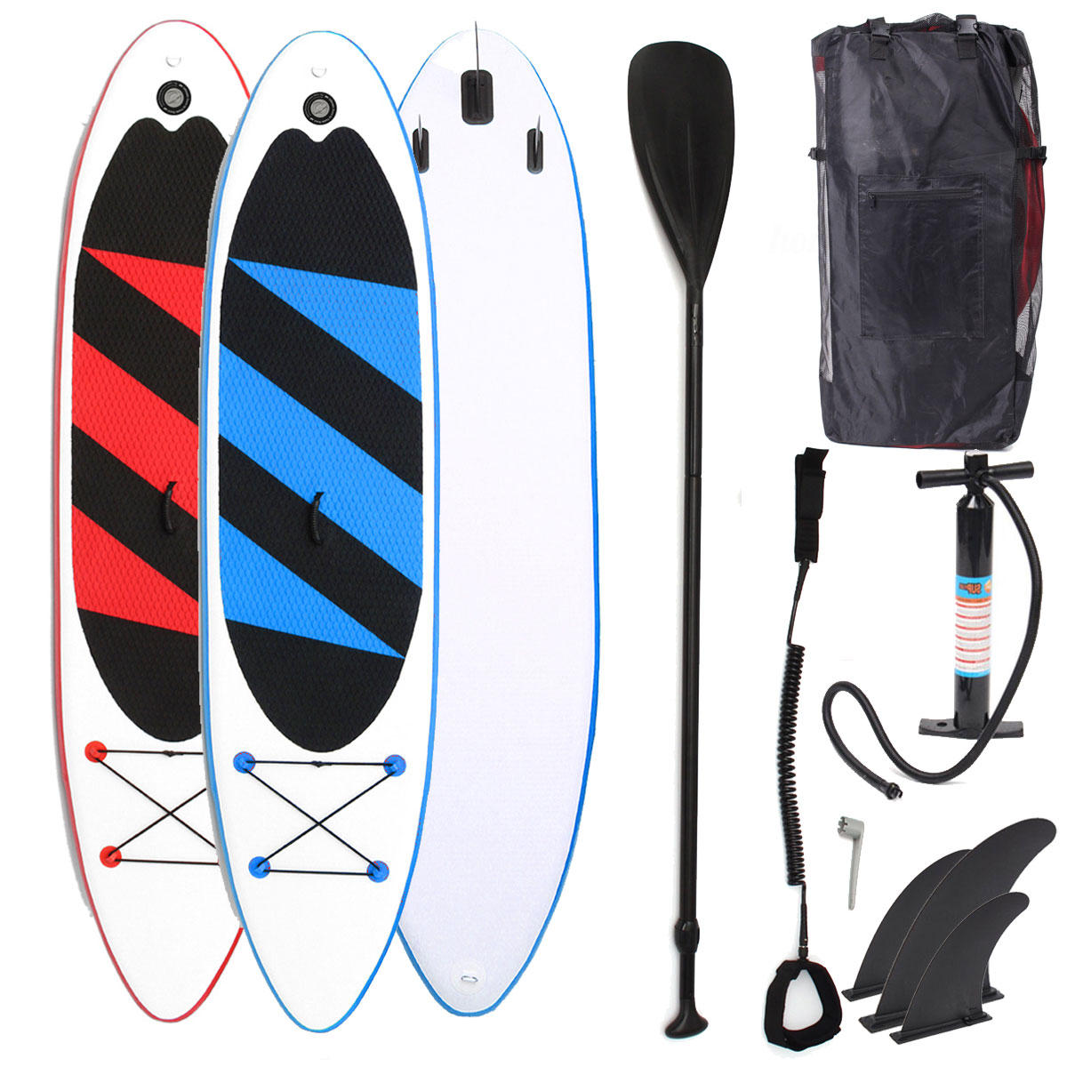 Outdoor 10.5ft Inflatable Surfboard Set Stand Up Adjustable Saddle Surf Boat Wave Ride Water Sports SUP Board