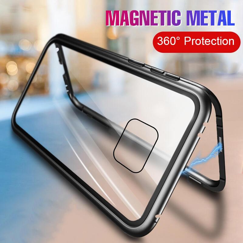Bakeey Custodia protettiva in vetro temperato a vibrazione magnetica ad adsorbimento a 360 ° per Huawei Mate 20 Pro