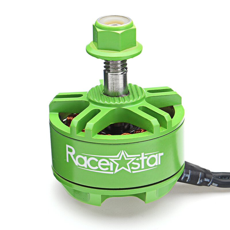 Racerstar 2207 BR2207S Green Edition 1600KV 2200KV 2500KV 3-6S Brushless Motor For RC Drone Frame