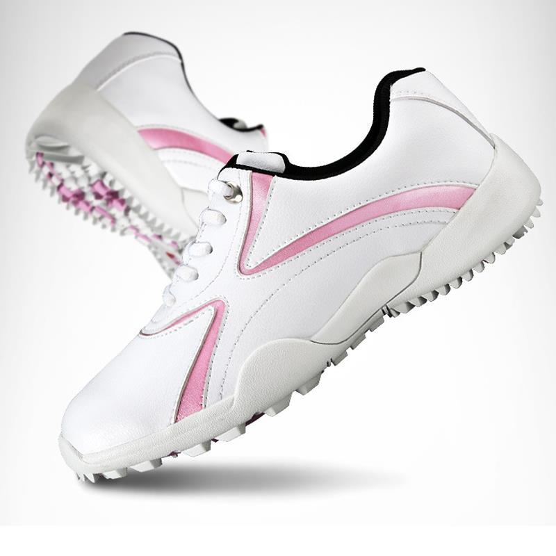 Mulheres Sapatos de Golfe Não-Slip Primavera Outono Sapatos Respirável Sapatos De Treinamento Profissional Sapatilhas