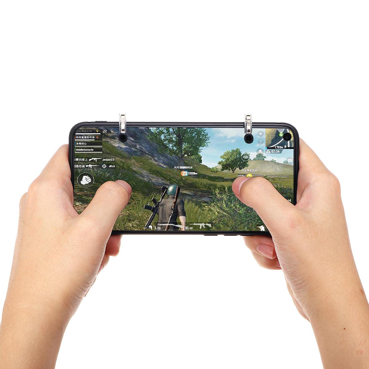 iPhone Androidのスマートフォン用のPUBGモバイルゲーム用のジョイスティックシューターボタン火災トリガーゲームコントローラ