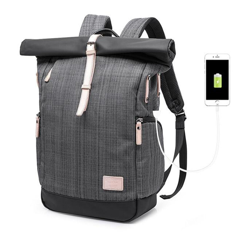 Men Casual Multifunctional Anti-theft Laptop Backpack With USB Charging Port