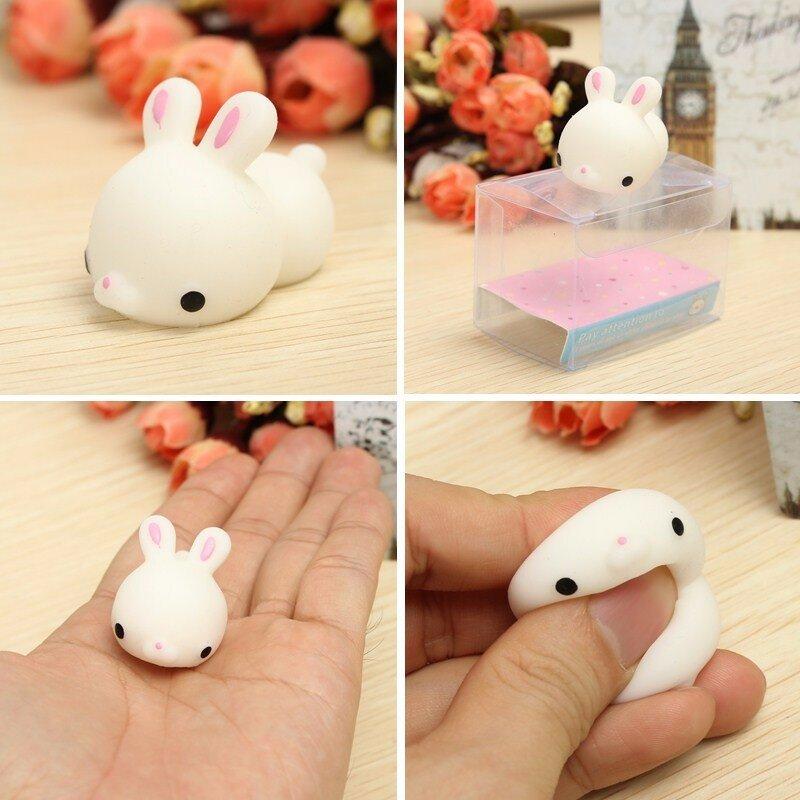 Lapin de lapin Squeeze mignon jouet de guérison Kawaii Collection Stress Reliever Gift Decor