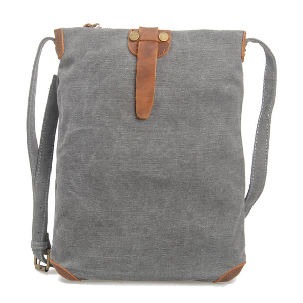Retro Canvas Genuine Leather Messenger Bags Casual Shoulder Bags Crossbody Bags