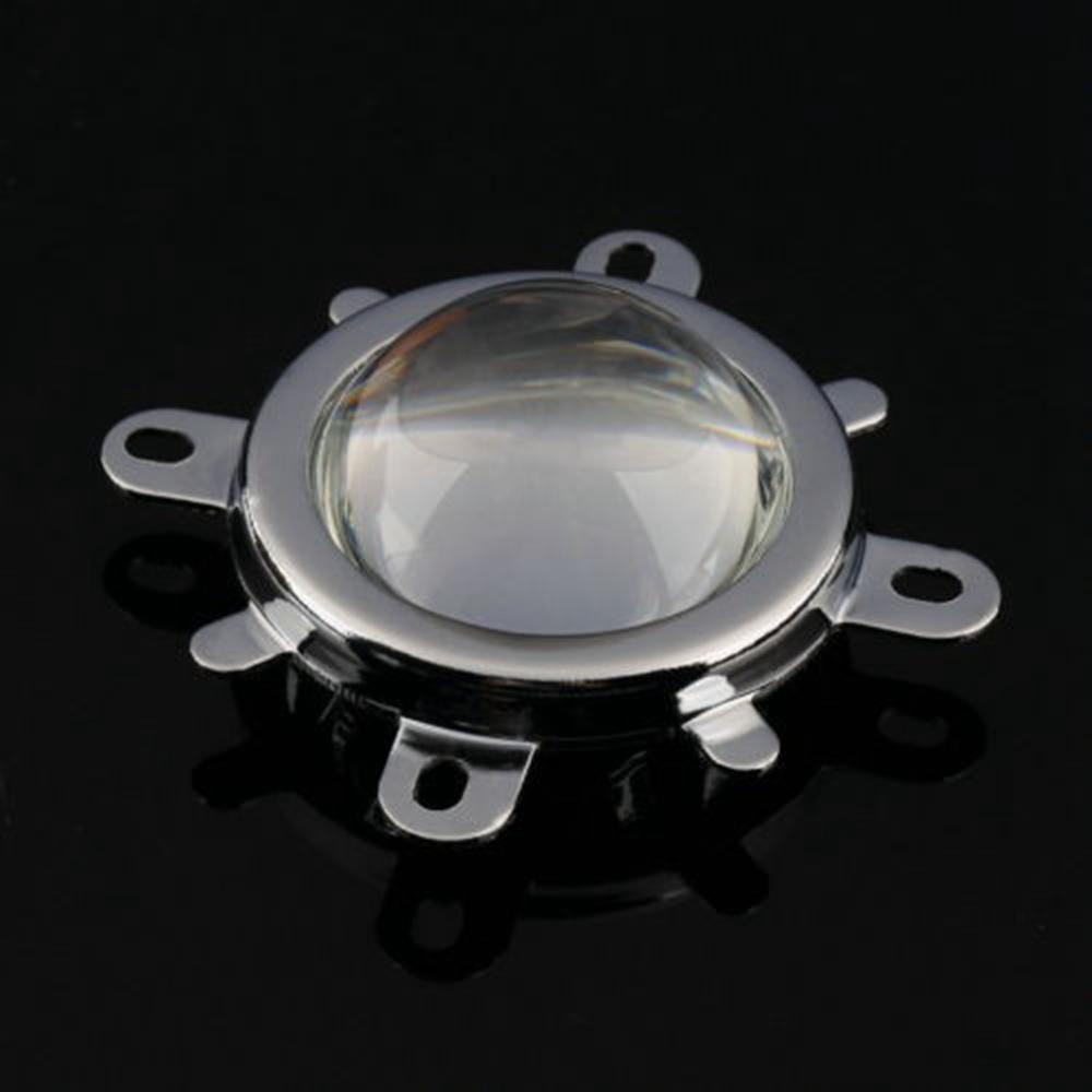 Lente de 90 ° 50mm + Colimador de Refletor + Suporte Fixo para DIY 20-100W LED Lamp Bead