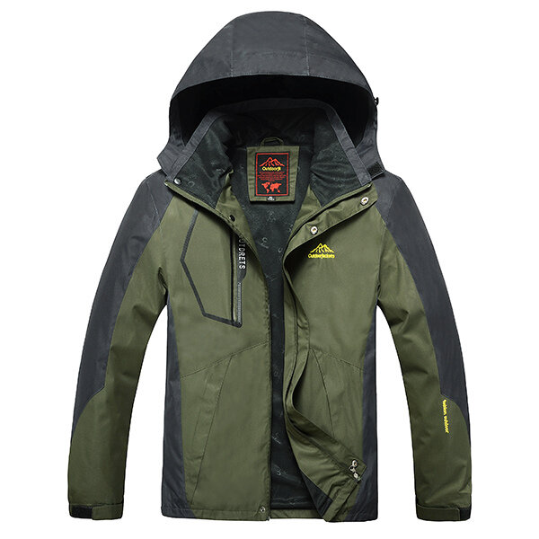 Outdoor Sports Casual Windproof Waterproof Big Size S-7XL Hooded Mountaineering Jacket