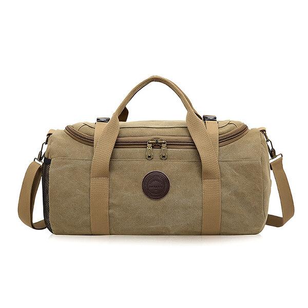 Borsa Viaggi Uomini Duffle Bag Affari Borsone sacchetto esterno della tela di canapa