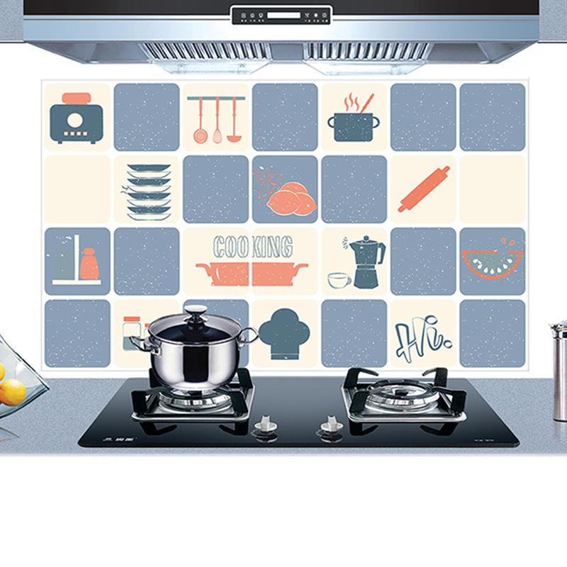 KCASA KC-WS020 45 x 75cm PCV Wymienne naczynia kuchenne Olejoodporne Wodoodporne naklejki ścienne Papier