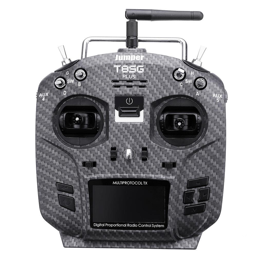 Jumper T8SG V2.0 Plus Karbon Special Edition Hall Gimbal Flysky Frsky için Çoklu protokol Gelişmiş Verici