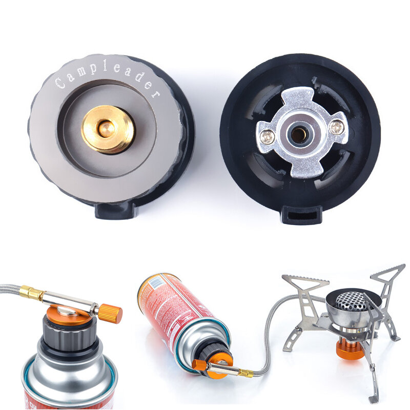Outdoor Camping Picnic Stove Converter Head Burner Tank Gas Bottle Adapter Connector