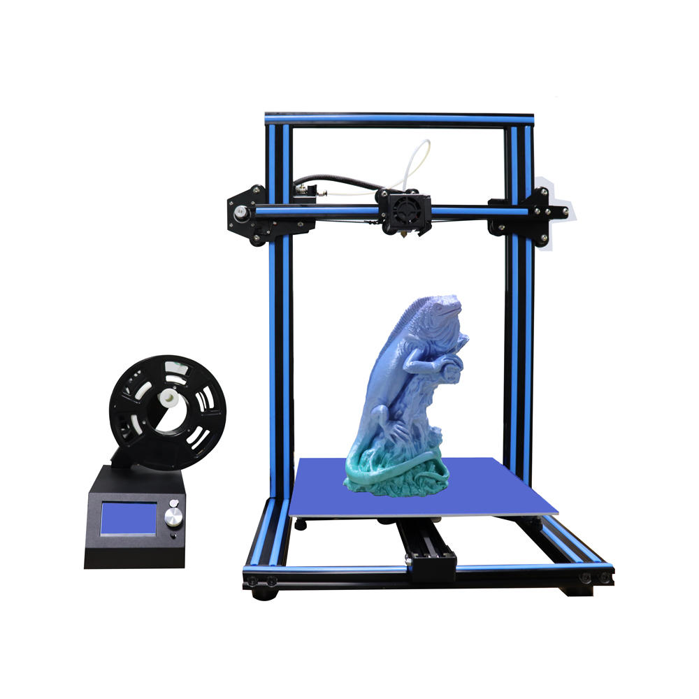 EZT® M18 3D Printer DIY Kit Blue/Orange/Yellow Color 300*300*400mm Printing Size Support Off-line Print with LCD Display 1.75mm 0.4mm Nozzle