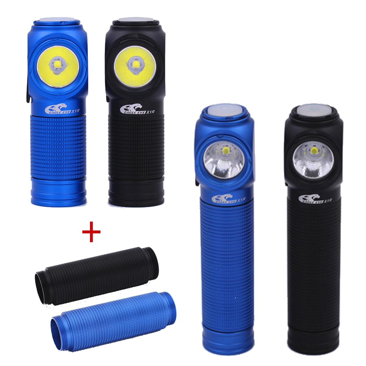 Eagle Eye X1R XP-L Cool White Yellow Luz natural USB Carga Portátil Mini EDC LED 18350 Linterna Antorcha con 18650 Tube
