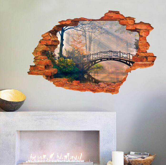 3D Landscape Wall Sticker Home Decorations