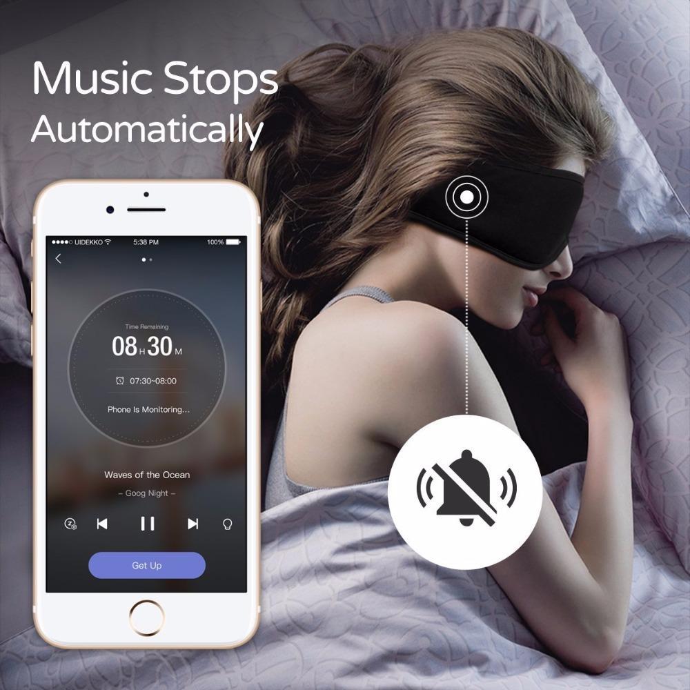 Sleepace Sleep Fones de ouvido Confortável Lavável Olho Máscara Inteligente App Controle de Bloqueio de Som Com Cancelamento de Ruído Fone de Ouvido