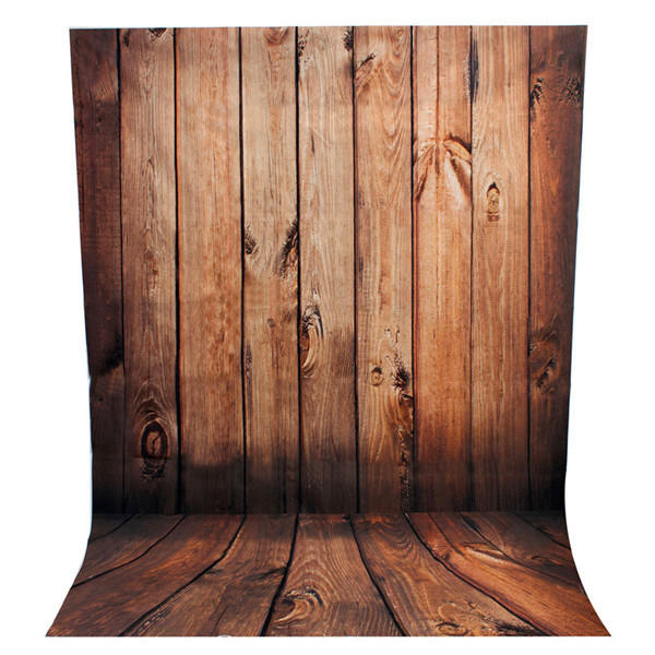 2.1 x 1.5m Wood Wall Floor Theme Scene Vinyl Studio Photography Backdrop Photo Background