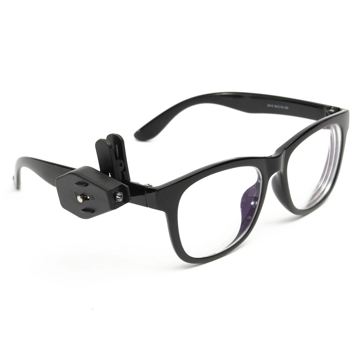 Universal óculos flexíveis mini clip LED na lâmpada de reparação de óculos de leitura luz