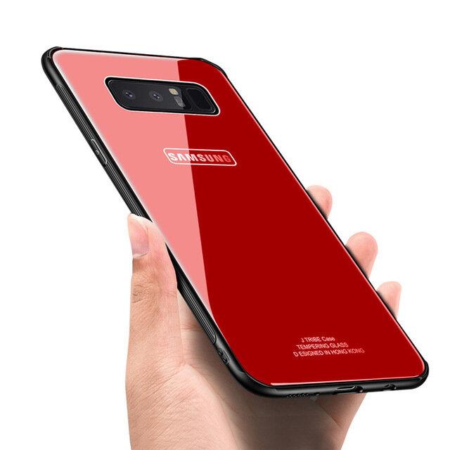Bakeey ™ - Étui Antichoc en Polyuréthane Verre Trempé avec Cadre en Miroir Trempé pour Samsung Galaxy 8/S8/S8Plus
