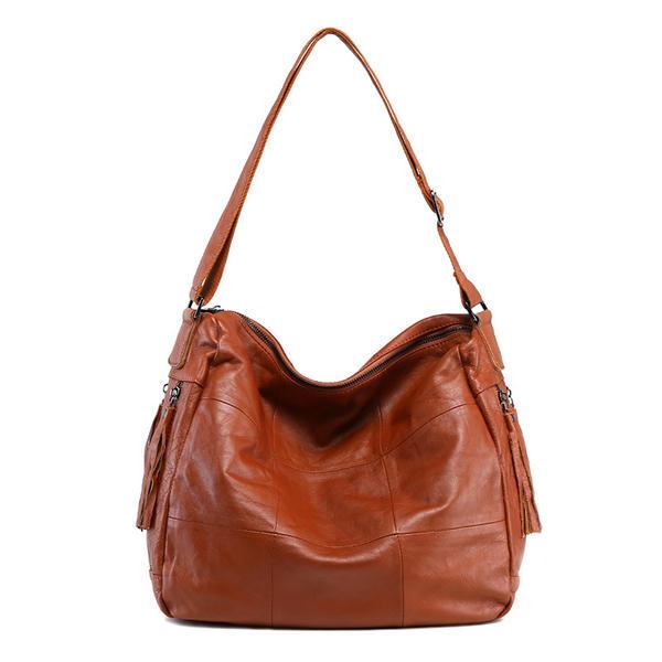 Women Cowhide Vintage Genuine Leather Crossbody Bag