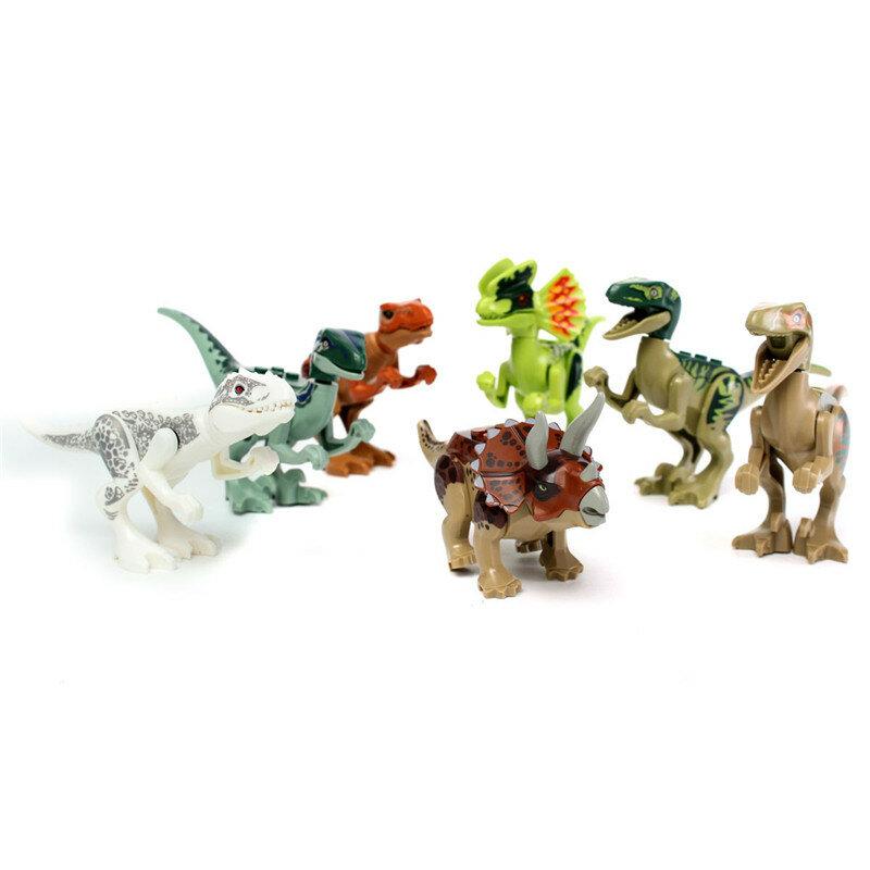 8pcs verschiedene Dinosaurier-Weltbaustein-Minifigur-Spielwaren