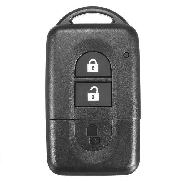 リモートコントロールキーシェルフォブ2ボタンスマートケース(日産QASHQAI Xトレイル用)