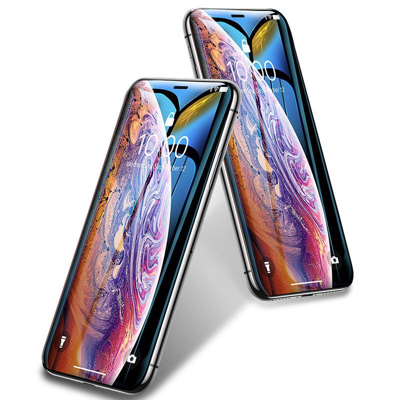 Bakeey Proteggi schermo in vetro temperato resistente ai graffi per incisioni a freddo con bordo curvo 10D per iPhone X / iPhone XS / iPhone 11 Pro