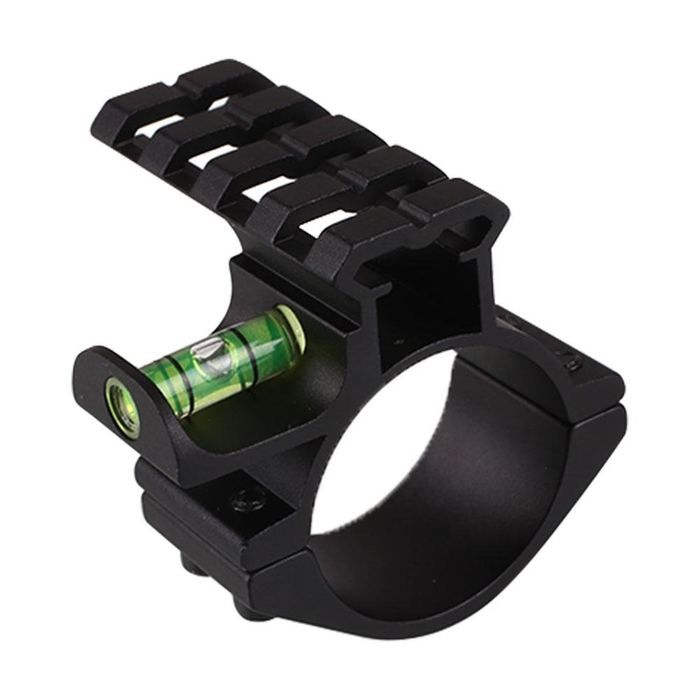AURKTECH 25.4mm/30mm Diameter with 20mm Level Picatinny Rail Adapter of Hunting Plastic+Alloy Black
