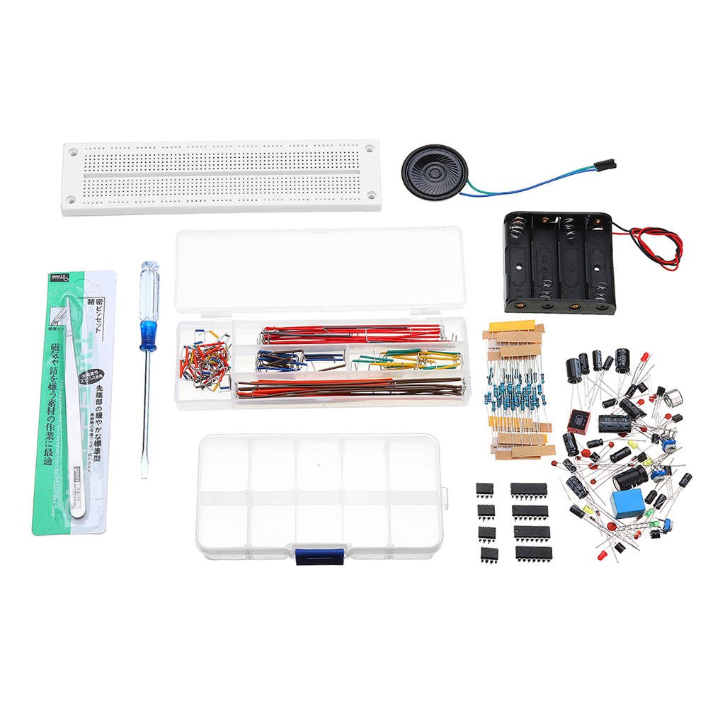 Beginner Breadboard DIY Kit 555 Integrated Circuit 130 Cases Of Experimental Package
