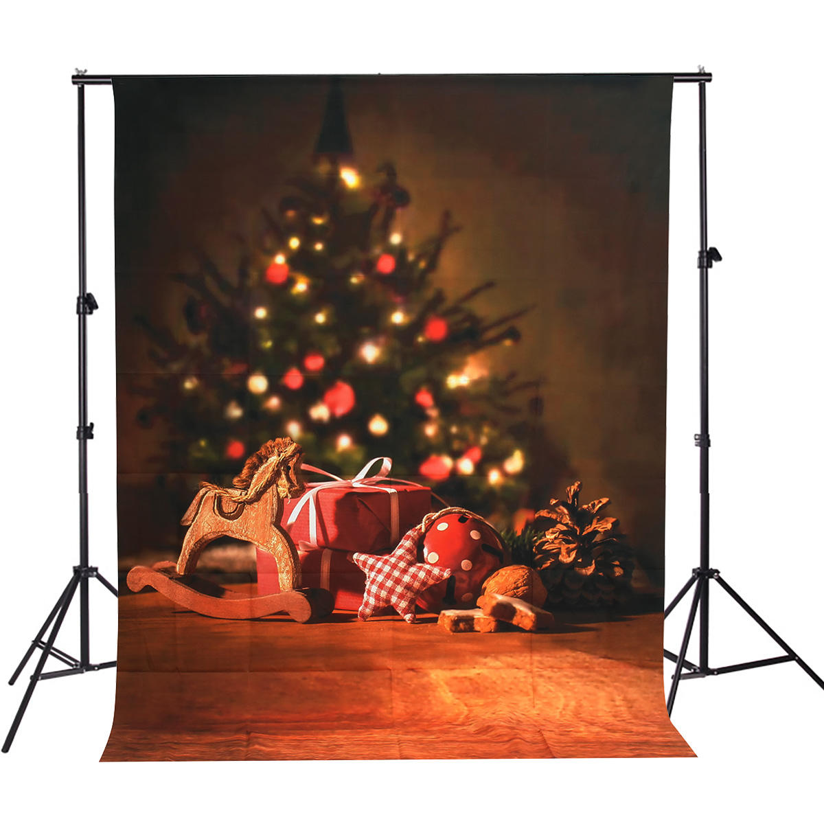 5x7FT Vinyl Chirstmas Tree Gift Photography Backdrop Background Studio Prop