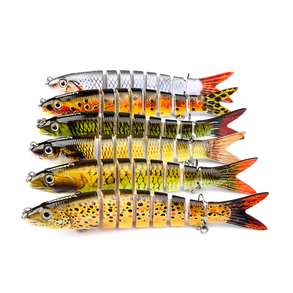 ZANLURE Preasle 1Pcs 13.28cm Fishing Bait Fishing Lure Plastic Hard Bait Sink Tackle Hard Flexible Artificial Multi Jointed Bait 19g Adult Fishing