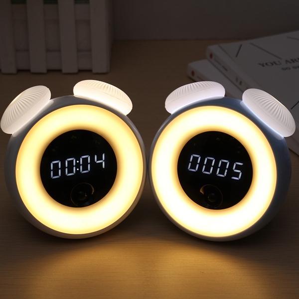 Intelligent Sensor Mushroom Lámpara Colorful LED Night Light luz controlada alarma Reloj regalo